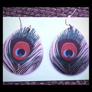 Jewelry - Large Peacock Earrings 🦚